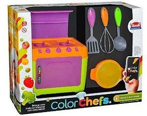 Fogão Color Chefs - Usual Brinquedos