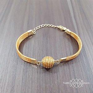 Pulseira Capim Dourado  Cód. P3 - Hipoalergênico