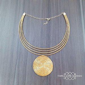 Gargantilha Capim Dourado Cód. G3 - Hipoalergênico