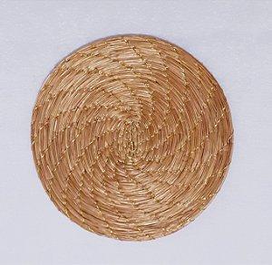 Porta Copo 10 cm Capim Dourado e Fio Dourado Cód. SO3