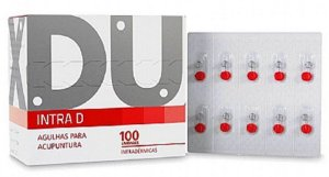 AGULHA DE ACUPUNTURA INTRADÉRMICA 0,16 x 9MM DUX CX COM 100 UNDS