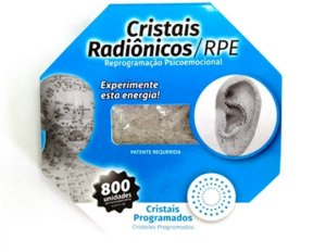 CRISTAL RADIÔNICO CARTELA COM 800 UNDS