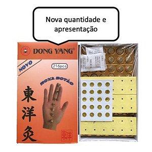 MOXA ARTEMÍSIA BOTÃO ADESIVA CAIXA COM 216 UNDS DONG YANG