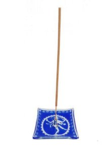Incensário Vidro Indiano 7x7 cm  Sortidos