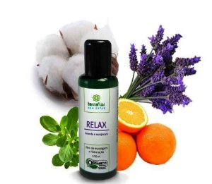 Óleo de massagem e hidratação de lavanda e manjerona - Relax - Terra Flor