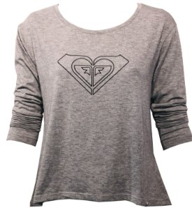 Roxy Camiseta Vintage M/L speel - Grey Heather RX9510 73931094