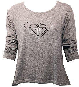 Roxy Camiseta Vintage M/L speel - Grey Heather RX9510 73931094