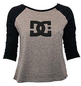 camiseta feminina DC 3/4 - Grey