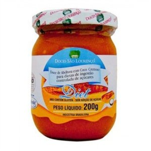 Doce de Abóbora com Coco sem Adição de Açúcar (Diet) São Lourenço