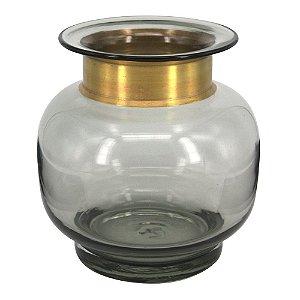 Vaso de vidro Dourado
