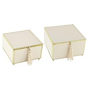 Set Caixas Brancas 2 Pçs