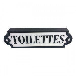Placa Luminosa Toilettes