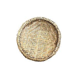 Bandeja em Fibra de Bambu e Cipó P