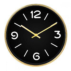 Relógio Dourado e Preto