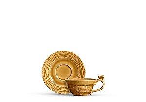 Conjunto Xícaras de Chá com Pires Bee 6 Pçs