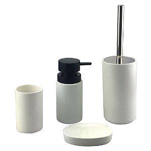Kit Banheiro Porcelana Branco
