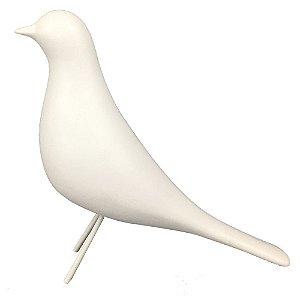 Pássaro de Cerâmica Branco I