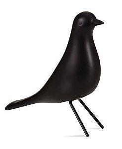 Pássaro de Cerâmica Preto II