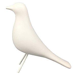Pássaro de Cerâmica Branco II