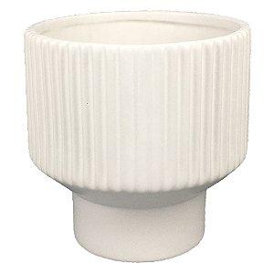 Vaso de Cerâmica Branco  I