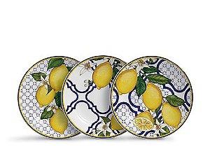 Set Pratos Sobremesa Sicilia