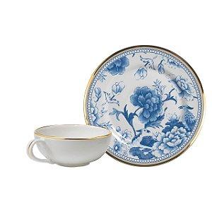 Conjunto Xícaras de Chá Chinese Blue 6 Pçs