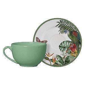 Conjunto Xícaras de Chá com Pires Paradiso 6 Pçs