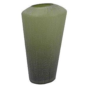 Vaso de Vidro Verde Fosco M