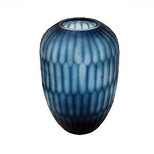 Vaso de Vidro Azul P