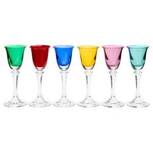Conjunto Taças de Licor Bohemia Coloridas 6 Pçs