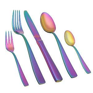 Faqueiro Pisa Wolff Rainbow 30 Pçs