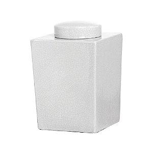 Potiche Quadrado Branco Angra