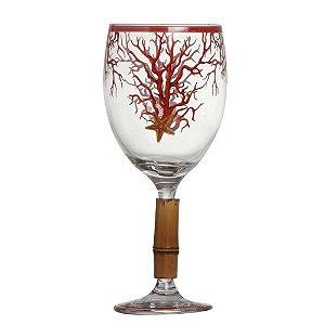 Conj. Taça de Vinho Sardenha c/Bambu 6pçs