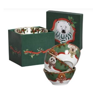 Conj. Bowl Cereal Christmas Bears 4pçs