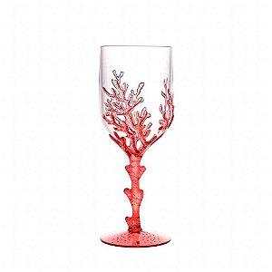 Conjunto Taças Acrílico Red Coral 450ml