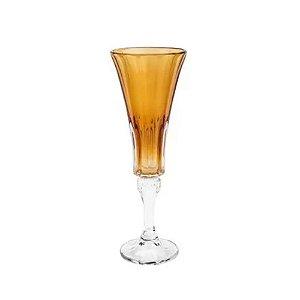 Conjunto Taças Champanhe Wellington Âmbar 6 Pçs