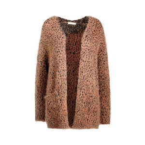 CARDIGAN ANIMAL PRINT FELPUDO