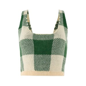 CROPPED TRICOT VICHY
