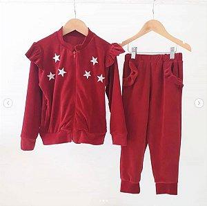 Conjunto Estrela Plush Vermelho