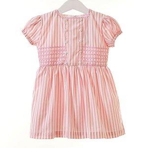 Vestido Infantil Listrado rosa