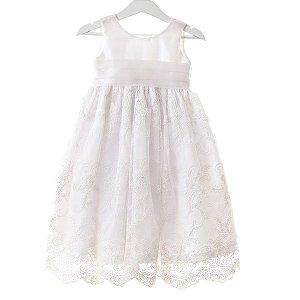 Vestido branco laço.