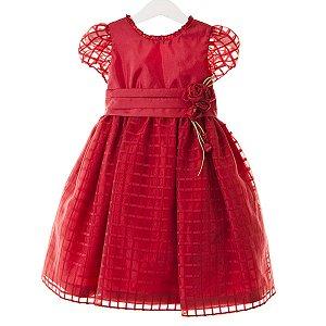 Vestido Vermelho Tela