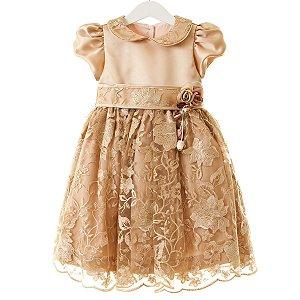 Vestido Renda Cobre