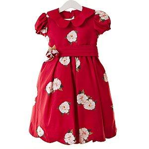 Vestido Flor gola