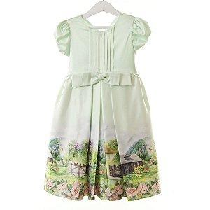 Vestido Fazendinha verde claro