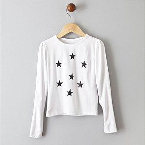 Blusa Estrelas preto