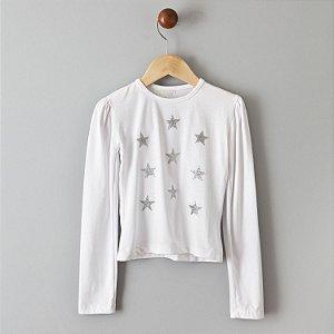 Blusa Estrelas prata