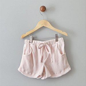 Shorts de Plush rosa
