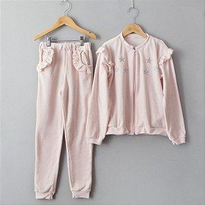 Conjunto de Plush Estrelas rosa