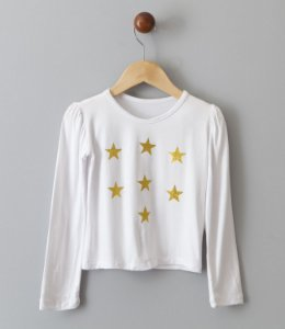 Blusa Estrelas dourada